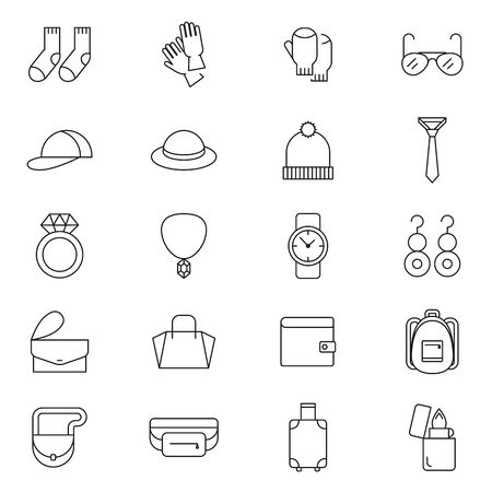 Accessories vector icon outline style Standard-Bild - 132559810