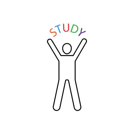 Study vector icon line style