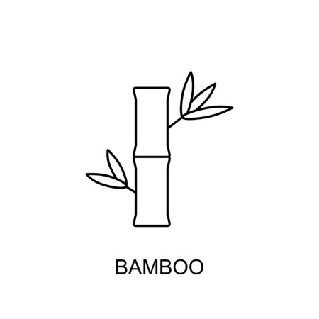 Bamboo vector icon outline style