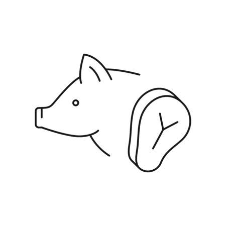 Pork vector icon line style