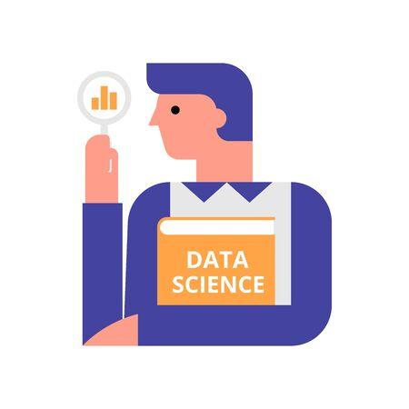 Data scientist flat vector illustration