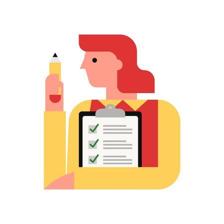 To do list, tasks, planning vector illustration Illusztráció