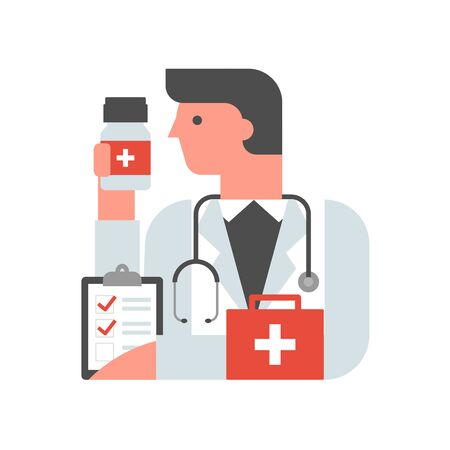 Doctor, physician, medic vector illustration