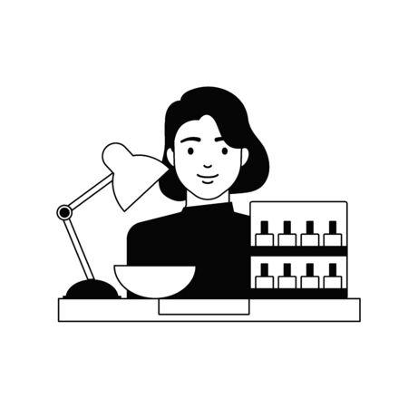 Manicurist, nail salon vector illustration Illusztráció