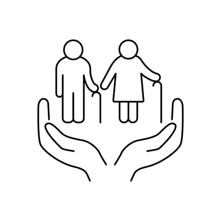 Social care for older people icon