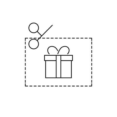 Gift voucher, coupon line style icon Stock fotó - 145860419