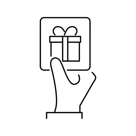 Gift card line style icon