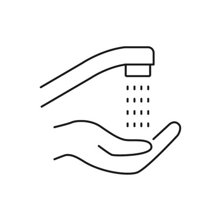 Hand washing line style icon