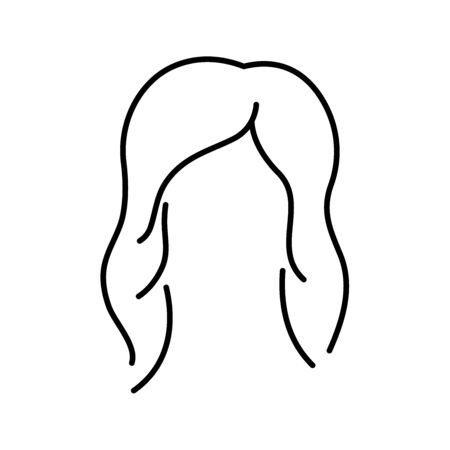 Women hair icon line style