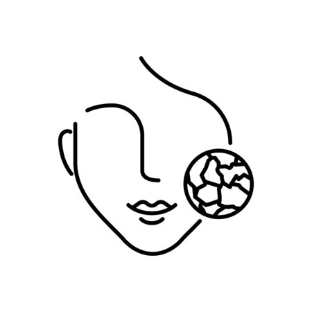 Dry skin icon line style