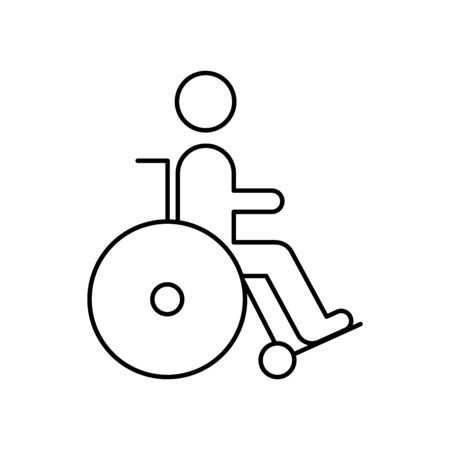 Wheelchair simple icon line style Illusztráció