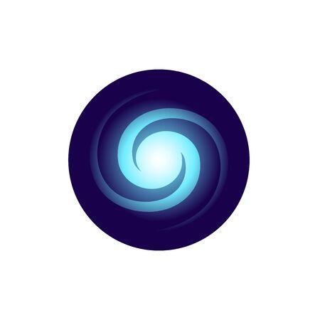 Galaxy flat style vector icon Illusztráció