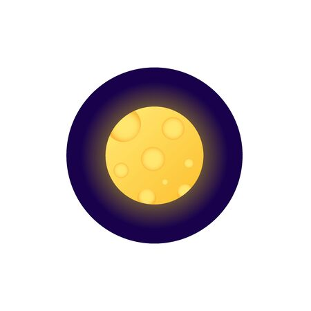 Moon flat style icon