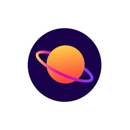 Planet flat style icon Иллюстрация