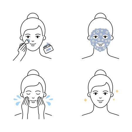 Carbonated bubble mask applying icons
