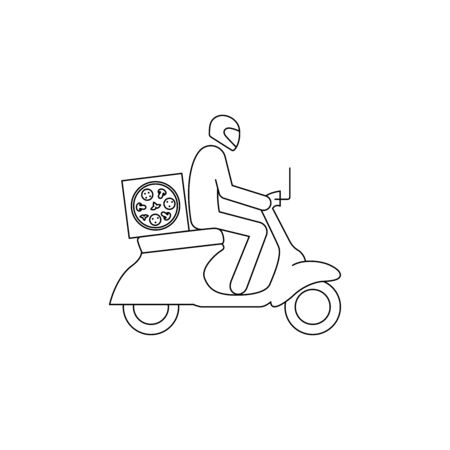 Courier, pizza delivery simple vector icon Stock fotó - 147587333