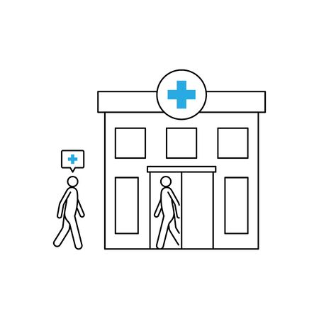 Person going to the hospital vector illustration Иллюстрация