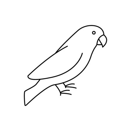 Parrot simple line vector icon