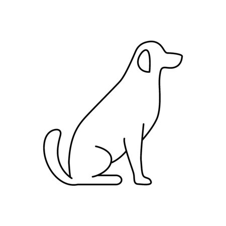 Dog simple line vector icon Stock fotó - 149658935