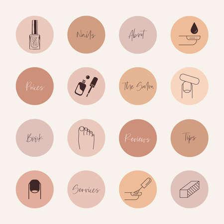 Nail services social media highlight covers