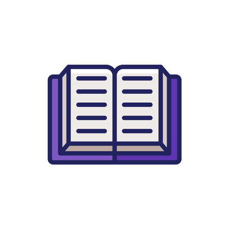 Book icon line style