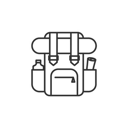 Backpack icon vector line style