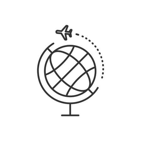 Worldwide travel icon vector line style