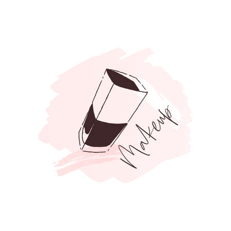 Makeup logo on pink background for beauty salon