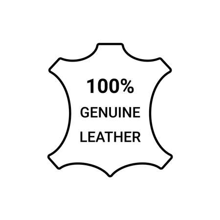 100% genuine leather label, natural cloth tag, stamp for clothing packaging