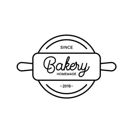 Bakery logo template on white background