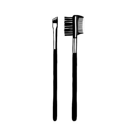Makeup brushes for eyes icon