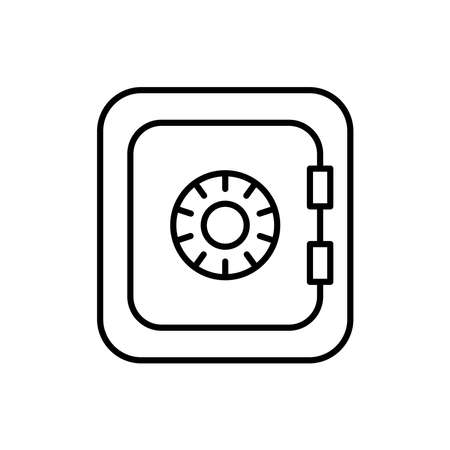 Safe deposit icon vector linear style