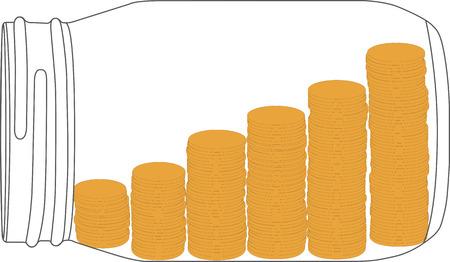 recoger: recoger el dinero en tarro