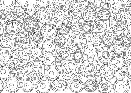 木材のログ スタック  イラスト・ベクター素材