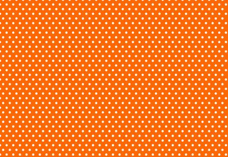 white polka dot on orange background Ilustrace