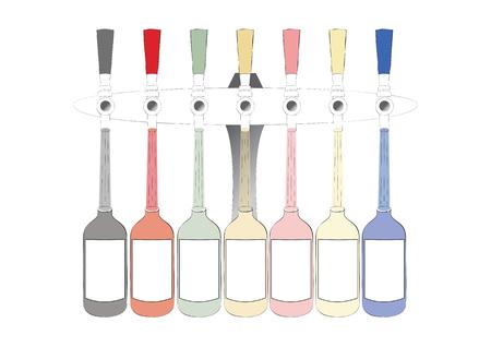 taps: beer taps Illustration