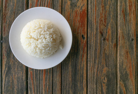 plate: plate of rice Stock Photo