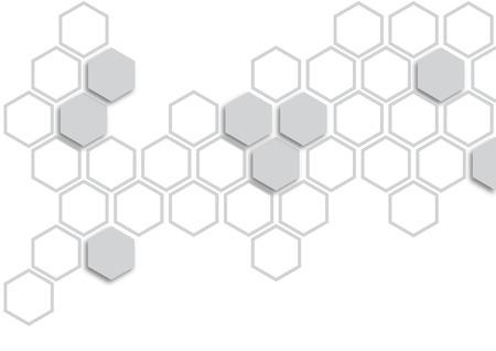 Grau Sechseck auf weißem Hintergrund