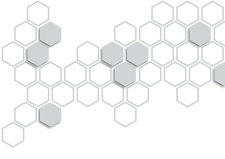 grey hexagon on white background