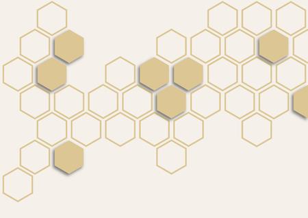 Ivory hexagon on white background Ilustrace