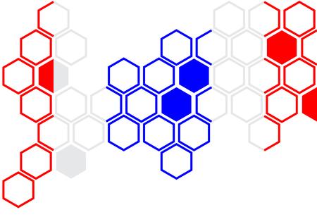 Thai flag hexagon on white background