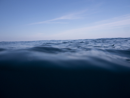 dark blue ocean background with dark blue sky Reklamní fotografie