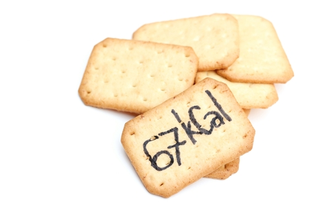 the calories: biscuits with calories written