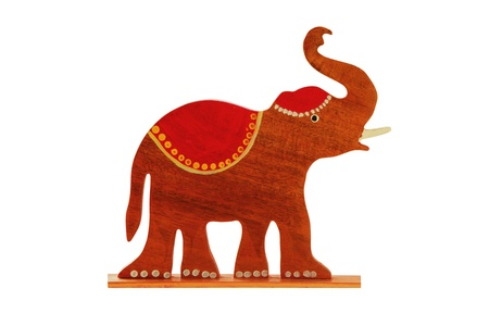 elephant Sculpture isolated on white background photo