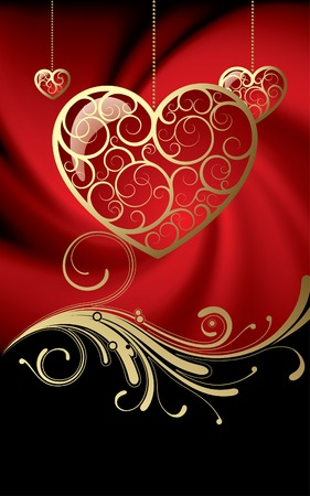 cordial: Vector card with a hearts