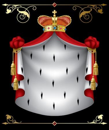 gronostaj: Wektor transparentu królewski  Ilustracja
