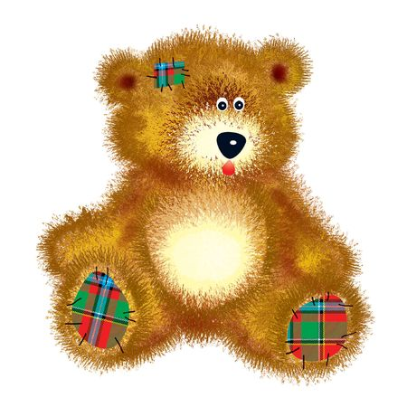 pathetic: Teddy bear with patch