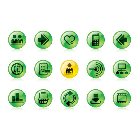 Vector green website and internet icons Easy to edit, manipulate, resize or colorize Stock Vector - 4328554