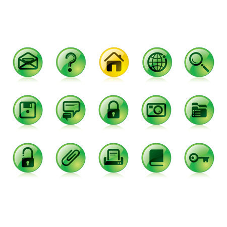 Vector green website and internet icons Easy to edit, manipulate, resize or colorize Vector