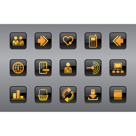 Vector website and internet icons Easy to edit, manipulate, resize or colorize Stock Vector - 4328558